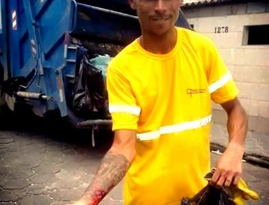 CASO: Recolector de residuos sólidos urbanos se corta